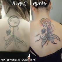 Amélioration d'un tatouage existant